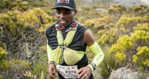 Siviwe Nkombi entered the Ultra-trail Cape Town 21km event with the help of Flats2Mountains, and won the race. Photo credit: Xavier Briel