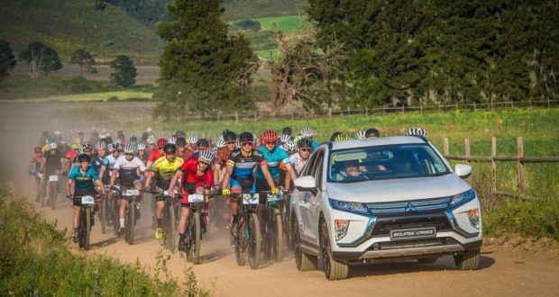 The Fedhealth MTB Challenge featured a neutral start at Boschendal Farm Estate on Sunday, 08 September 2019 with Mitsubishi Motors South Africa leading the way.  Photo Credit:  Tobias Ginsberg