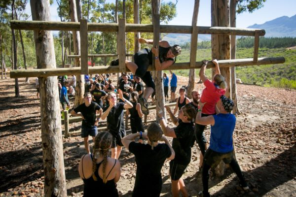 Adventure seekers overcoming their fears at the IMPI Challenge. Photo Credit: Mark Sampson