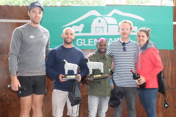 From left: Owen Gandar (Glencairn Trail Run) Ross Cairns, Philip Shezi, Matt Lennon and Tamika Haw (Glencairn Trail Run)