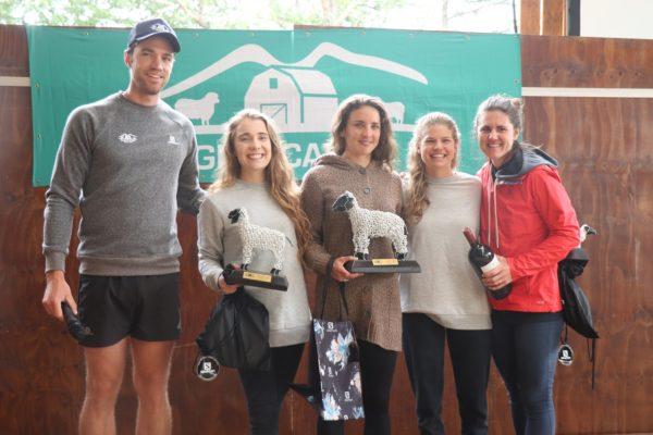 From left: Owen Gandar (Glencairn Trail Run) Mareli van Schalkwyk, Keren Worlock, Megan Liebetrau and Tamika Haw (Glencairn Trail Run)