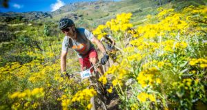 "The organizers of Stellenbosch's ""MTB Party of the year"", the Savanna Origin of Trails MTB Experience that will take place at the Blaauwklippen Wine Estate on Saturday 30 November 2019 and Sunday 01 December 2019, are proud to promote the building and maintenance of MTB trails in Stellenbosch by supporting the Stellenbosch Trail Fund (STF).   Seen here:  Bobby Behan (from Specialized SA) in action during the 2018 event.  Photo Credit:  Tobias Ginsberg"