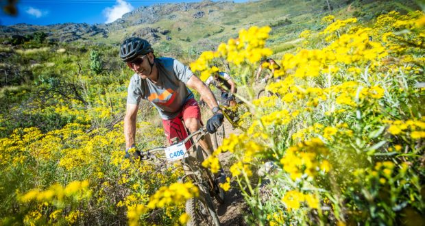 """The organizers of Stellenbosch's """"MTB Party of the year"""", the Savanna Origin of Trails MTB Experience that will take place at the Blaauwklippen Wine Estate on Saturday 30 November 2019 and Sunday 01 December 2019, are proud to promote the building and maintenance of MTB trails in Stellenbosch by supporting the Stellenbosch Trail Fund (STF).   Seen here:  Bobby Behan (from Specialized SA) in action during the 2018 event.  Photo Credit:  Tobias Ginsberg"""