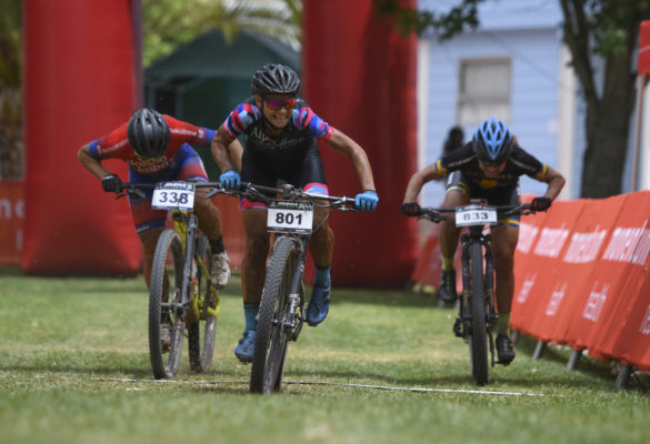Unlikely as it was the 2019 elite women's race came down to a sprint finish, providing one of the most thrilling finales in the event's thirteen edition history. Photo by ZC Marketing Consulting.