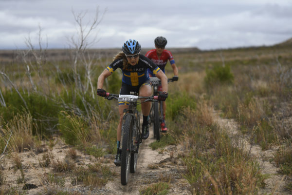 Jennie Stenerhag and Robyn de Groot spent 90 kilometres together at the front of the women's race. Photo by ZC Marketing Consulting.