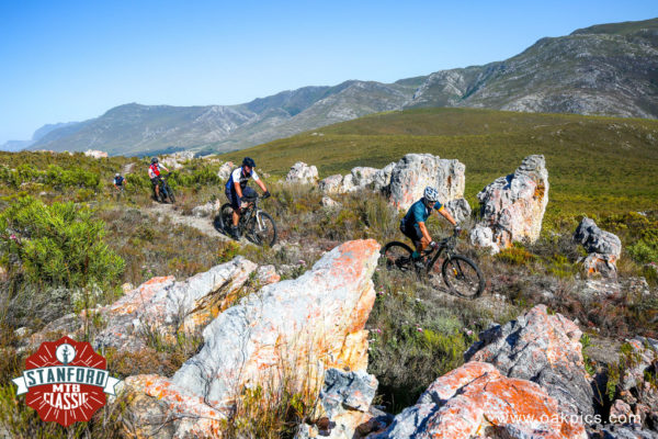 The new singletracks wind through pristine fynbos and marvellous sand stone formations. Photo by Oakpics.com.
