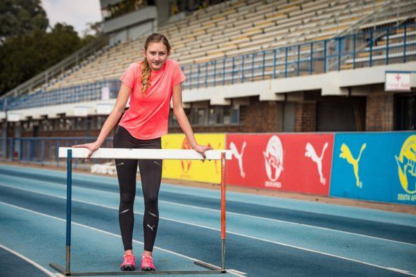 Hannah van Niekerk from Helpmekaar College.  Photo Credit:  David Tarpey